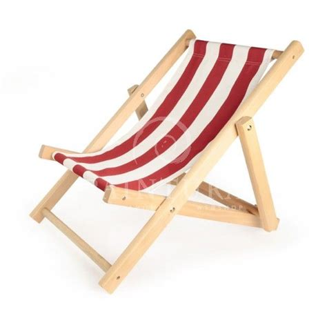 Childrens wooden deck chairs Image