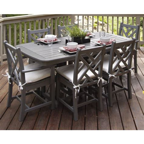 Chippendale 7-Piece Dining Set with Cushions