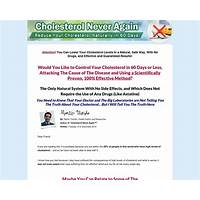 Cholesterol never again 90%! top converting written page on cb secret code