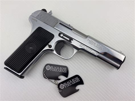 Chrome 9mm Handgun
