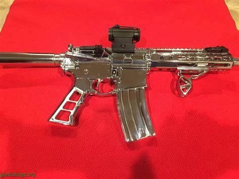 Chrome Ar 15 Pistol