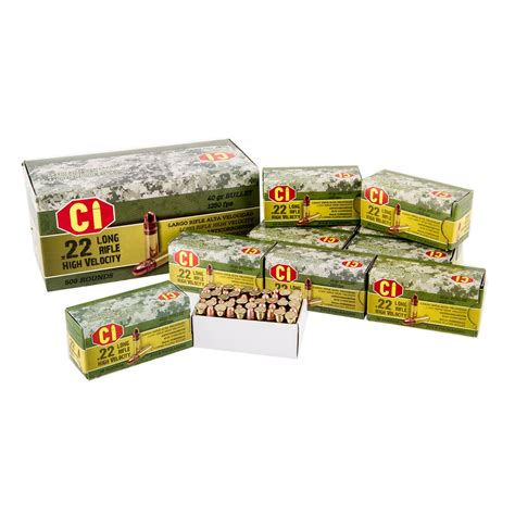 Ci Ammunition High Velocity Ammo 22 Long Rifle 40gr Copper