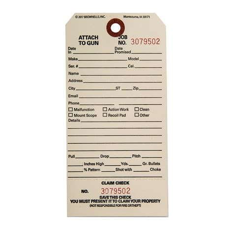 Claim Checks Shop Accessories Supplies At Brownells