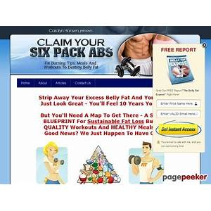 Coupon for claim your six pack abs: fat burning tips, meals and workouts to destroy belly fat