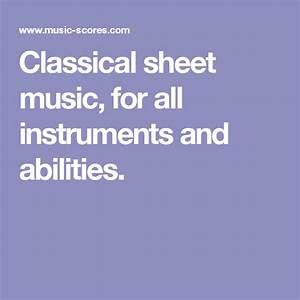 Buy classical sheet music, for all instruments and abilities