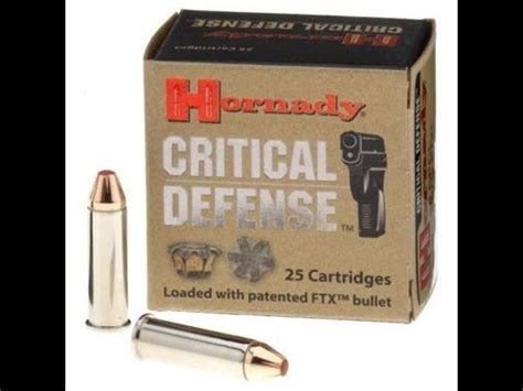 Clear Ballistics Gel Hornady Critical Defense 38 Special 110g REDO