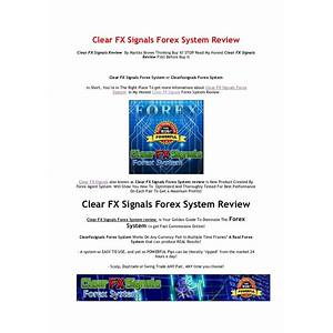 Clear fx signals forex system guides