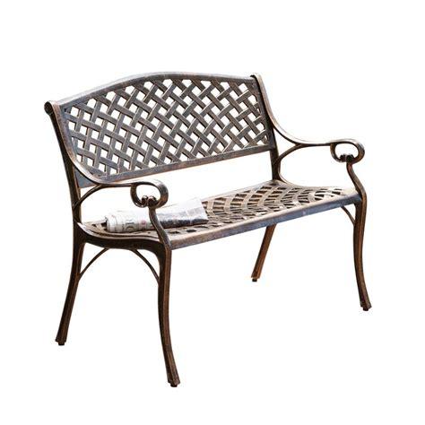 Clifford Cast Aluminum Garden Bench