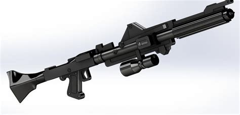 Clone Trooper Rifle And Rifled Paintball Barrel
