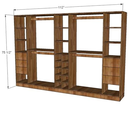 Closet shelf woodworking plans Image
