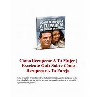 Cmo recuperar a tu mujer immediately