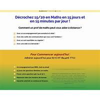 Coaching pour reussir en maths : 15 20 en 15 min jours guide