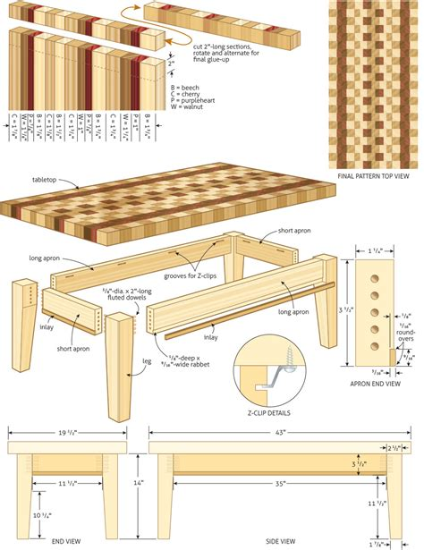 coffee table woodworking plans Image