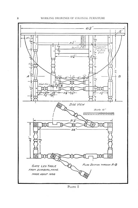 colonial furniture woodworking plans Image