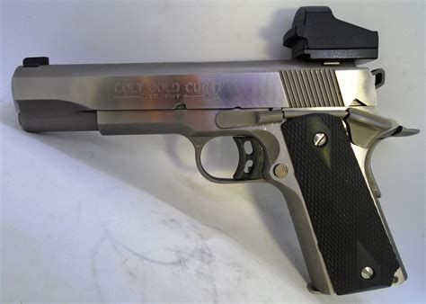 Colt 1911 45 Acp Gold Cup With Gold Trigger