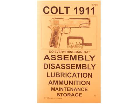 Colt 1911 Assembly Manual