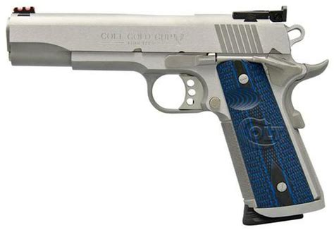 Colt 1911 Gold Cup Trophy 45acp Blue Replace Grip And Colt 1911 Grip Safety Rattle