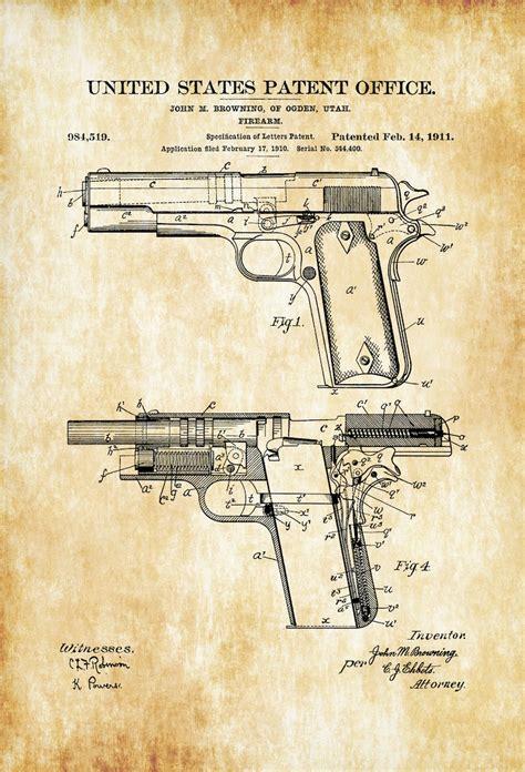 Colt 1911 Patent Print