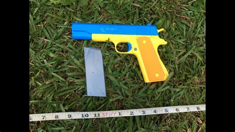 Colt 1911 Rubber Bullet Toy Gun Range