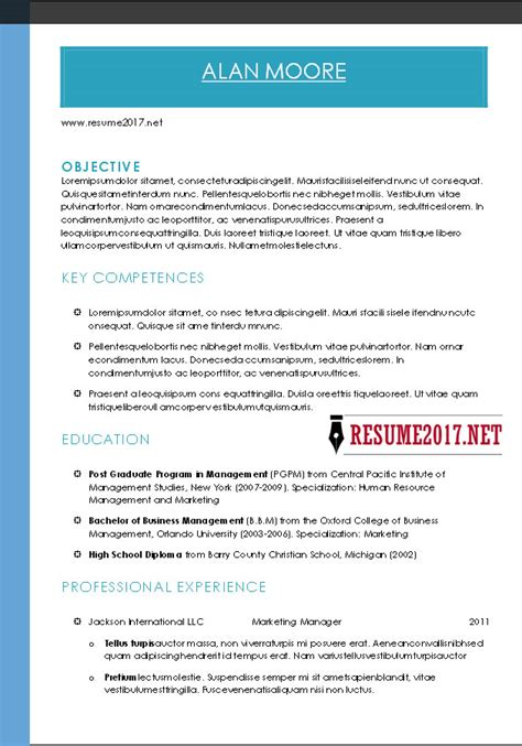 Combination Resume Template Word Accounting Resume Outline