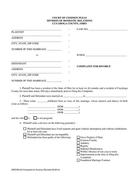 Complaint For Divorce Form CV Templates Download Free CV Templates [optimizareseo.online]