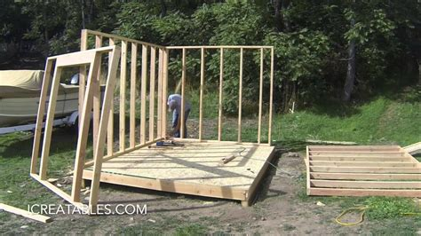Complete backyard shed build in 3 minutes icreatables shed plans Image