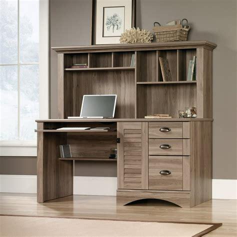 Computer Desk With Hutch Salt Oak Image