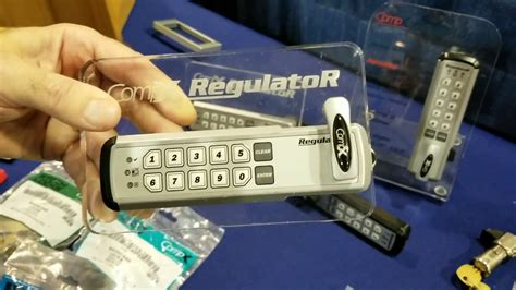Compx digital keyless keypad push button cam lock for cabinet and drawer easy installation Image