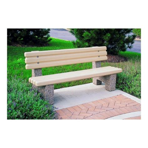 Concrete Bench With Back Image