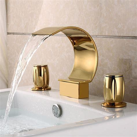 Contemporary Widespread Handle Bathroom Faucet