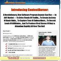 Free tutorial contestburner: amazing viral marketing software earn 50%!