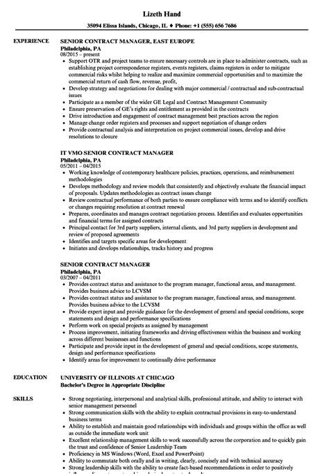 Contract Administrator Resume Objective