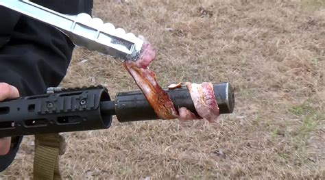 Cooking Bacon On Rifle Barrel