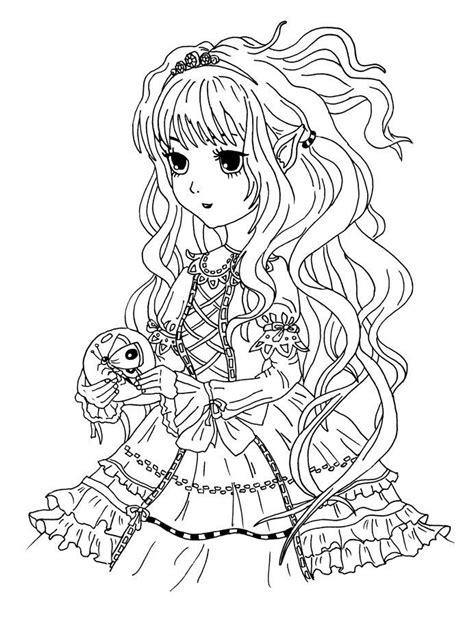 Coole Manga Ausmalbilder