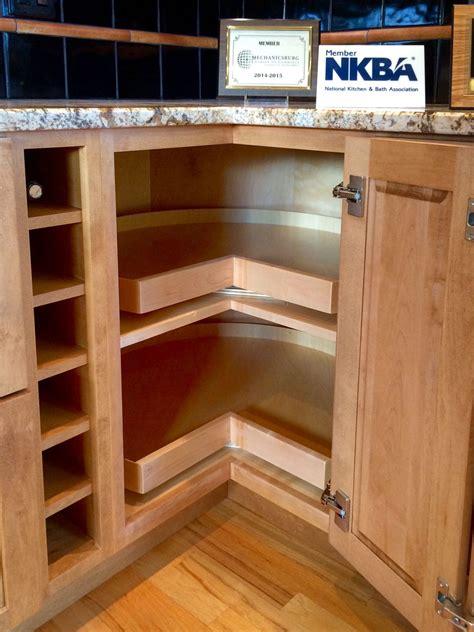 Corner cabinet with shelves Image