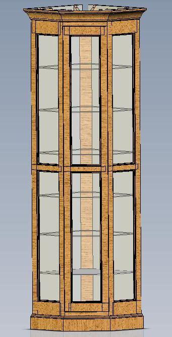 Corner curio cabinet woodworking plans Image