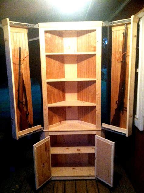 Corner Hutch With Hidden Gun Cabinet Plans Image