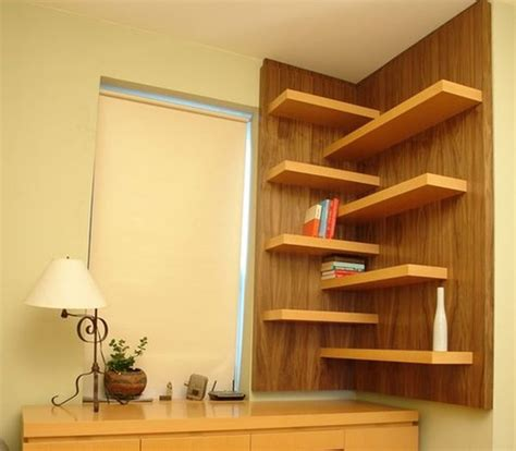 Corner Wall Shelf Wood Image