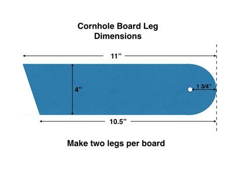 Cornhole board leg dimensions Image