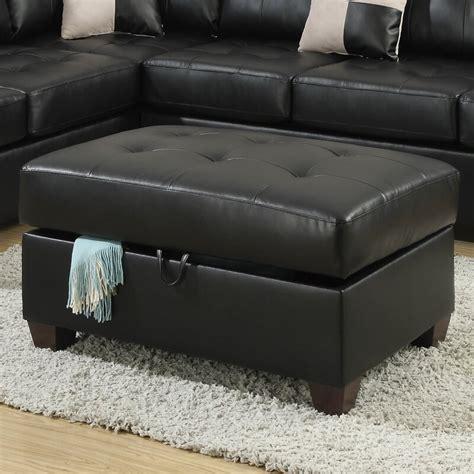 Corporate Bonded Leather Oversized Storage Ottoman