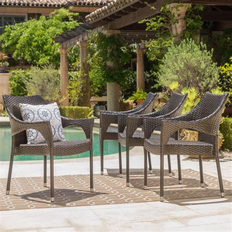 Corrales Stacking Patio Dining Chair (Set of 4)