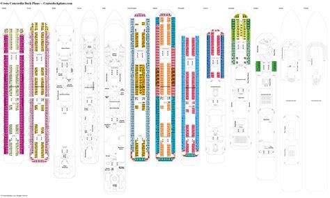 costa concordia deck plans Image