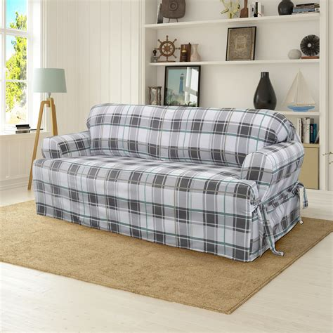 Cotton Duck Box Cushion loveseat Slipcover