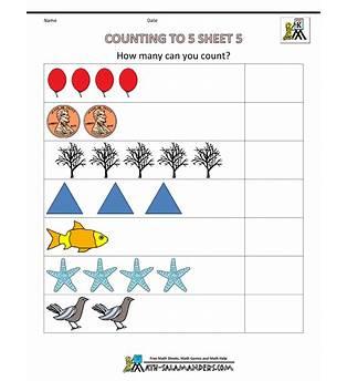 Counting Worksheet Preschool