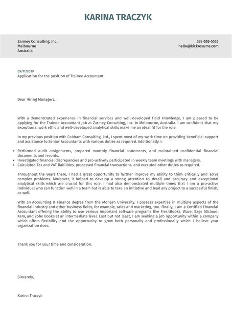 Cover Letter For Accountant And Auditor | Capital One ...