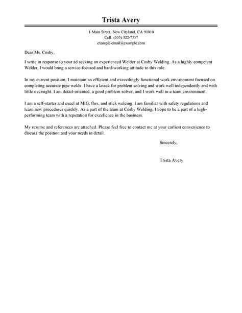 Cover Letter Job Application Welder   Cv Format Guidelines