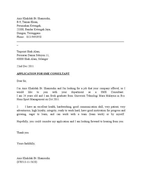 Cover Letter Untuk Fresh Graduate Business Proposal Template