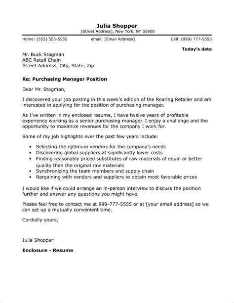 Job Application Cover Letter Procurement | Examples For ...