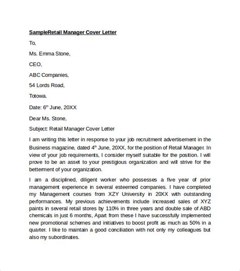 Cover Letters Examples For Retail | Resume Cover Letter Bank ...