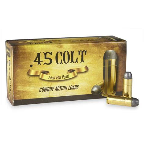 Cowboy Action Ammo 45-70 Government 405gr Lead Flat Point